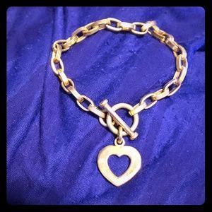 Silpada toggle heart bracelet retired design b0992